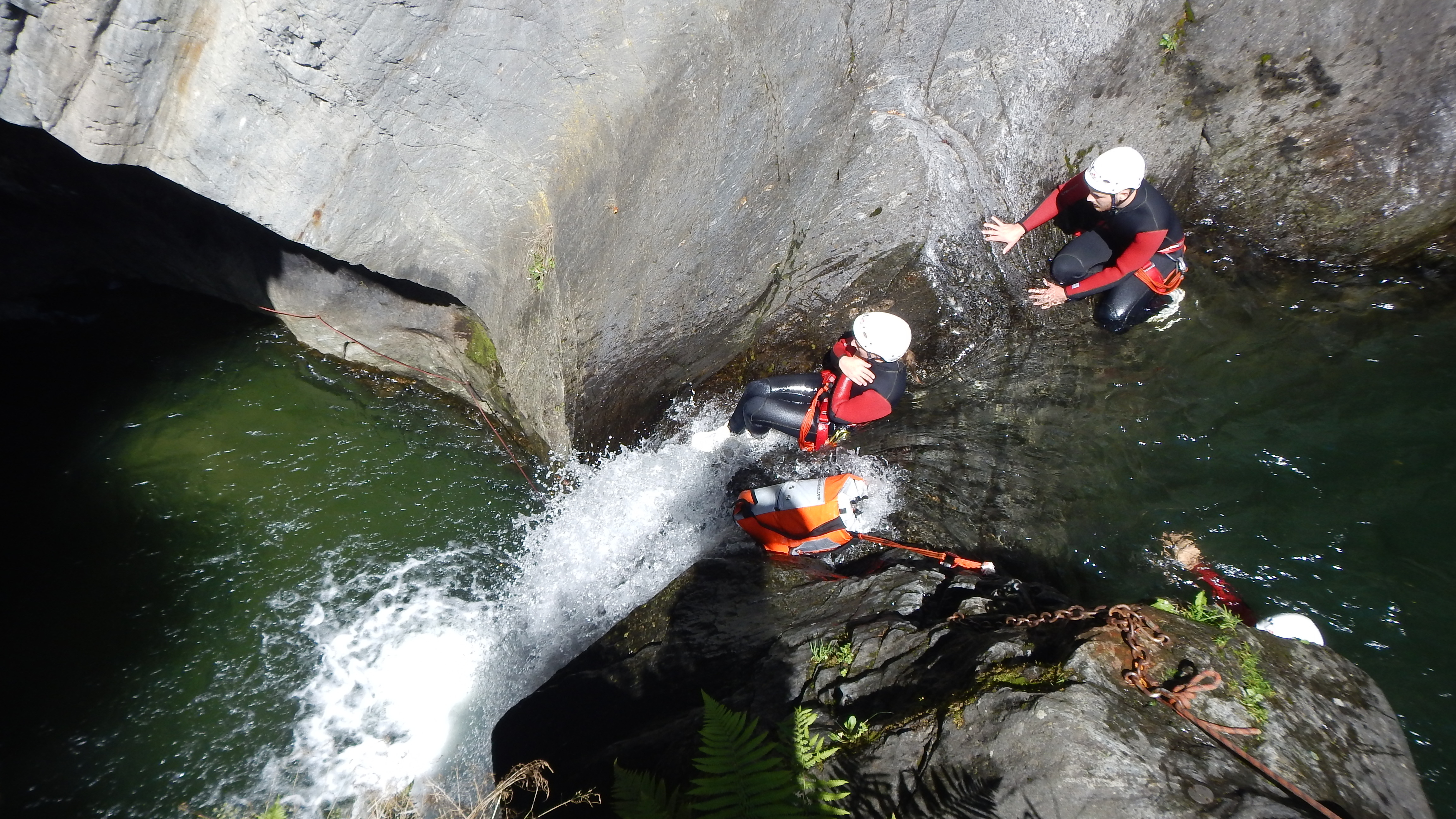 Canyoning – dipping